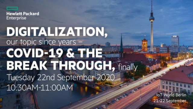 #Digitalization, our topic since years – COVID 19 & the breakthrough, finally: join this virtual session with @TheDigital_7 at the Industry of Things World Berlin via webapp #IoTClan #IIoT https://t.co/TfAcne24gV https://t.co/VIt2ymPzKa