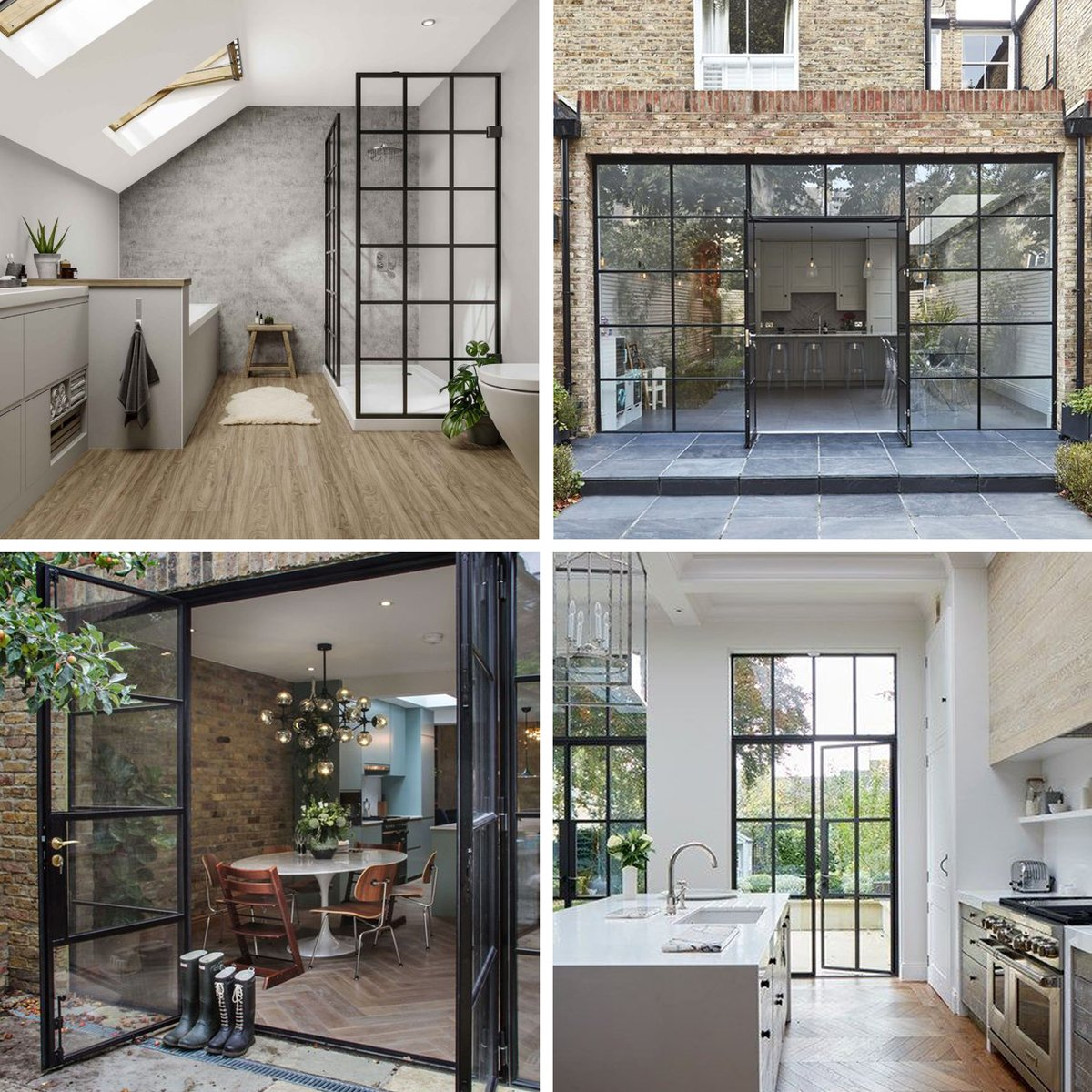 Crittal style partitions & doors - we absolutely love them here at Fisch & we are so glad our Client wants to incorporate them into the rear extension of her gorgeous home #FischDesign #InteriorDesign #InteriorArchitecture #ResidentialDesign #ExternalDesign #Extension #Industrial https://t.co/xc1xlKTT5W