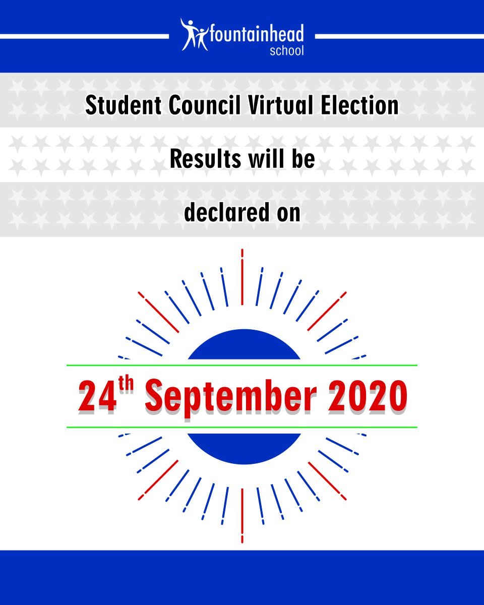 Waiting for the results of Student Council Elections? Know it all on 24th September!  @ibpyp #StudentAgency #StudentCouncil #FSStudents #FSHappenings #FSWay #FSLife https://t.co/XWRjnngdyU
