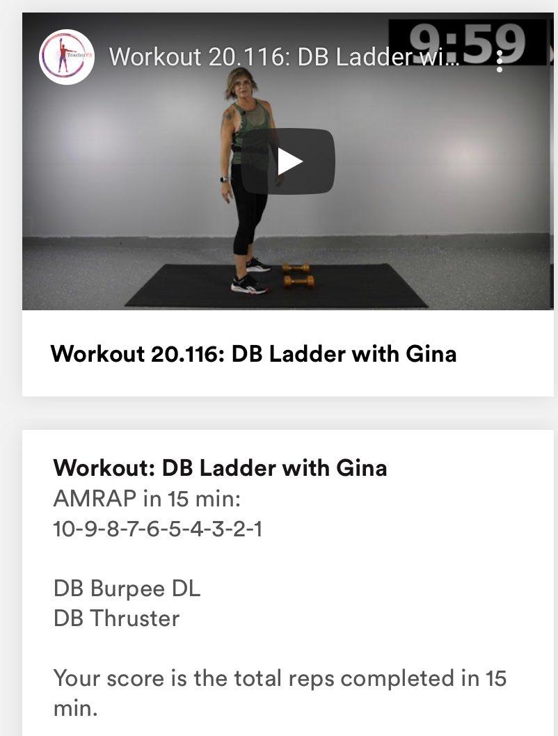 Excellent morning workout by @TeacherFit_ - thanks coach Gina #TeacherFit