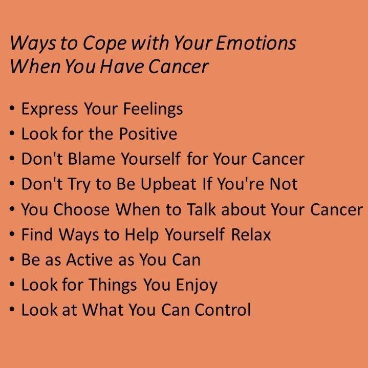 A #cancer diagnosis can give you all these emotions: Overwhelmed Denial Anger Fear and Worry Hope Stress and Anxiety Sadness and Depression Guilt Loneliness Gratitude There are ways to cope: https://t.co/rIIneCZObX https://t.co/OfYN3xkafs