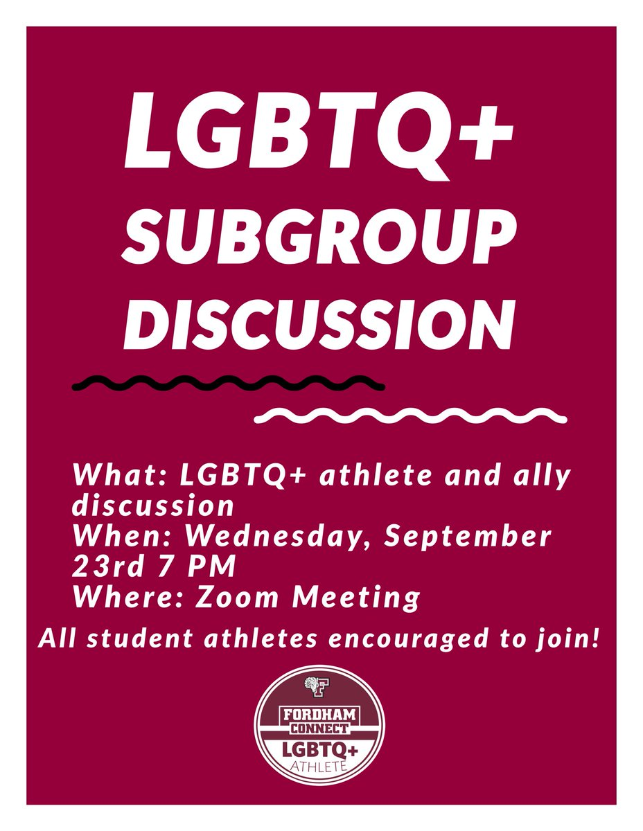 TOMORROW NIGHT AT 7 PM WE WILL HAVE OUR FIRST SUBGROUP DISCUSSION! Check your email for the Zoom link! https://t.co/AjhNMK7Gyo