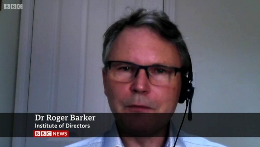 IoD Director of Policy Roger Barker joined BBC News to discuss the latest news on restrictions, highlighting the potential impact on jobs.  Our full response to the PM's statement here 👉https://t.co/ncqwCPL8aD https://t.co/rq4oNhxcyw