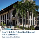 The Jose V. Toledo Federal Building and U.S. Courthouse in San Juan, PR, is named for Jose Victor Toledo, who served as a justice and chief judge in the U.S. District Court, District of Puerto Rico, from 1970 to 1980: https://t.co/FLoGpyfuPE #HispanicHeritageMonth #FedBldgFridays