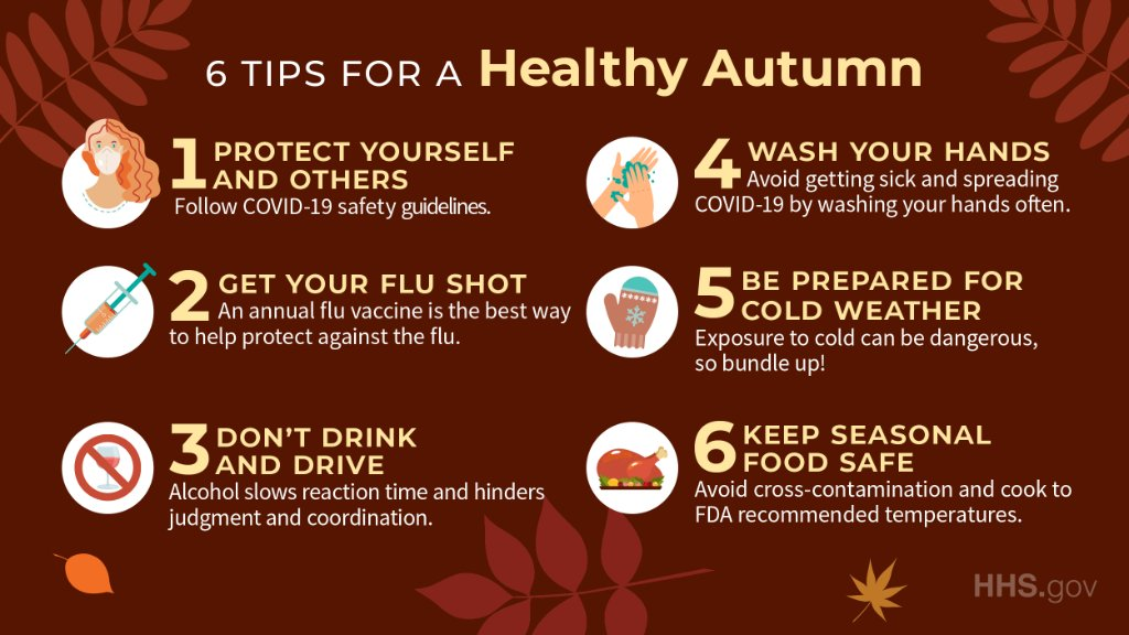 Don't fall into unhealthy habits 🙅‍♀‍. A change in season can be a great time to find ways to be a healthier, happier you. Here are our favorite tips for a healthy autumn 🍂. https://t.co/i2etmS0Paq #FirstDayOfFall https://t.co/LFa7C2iBIY