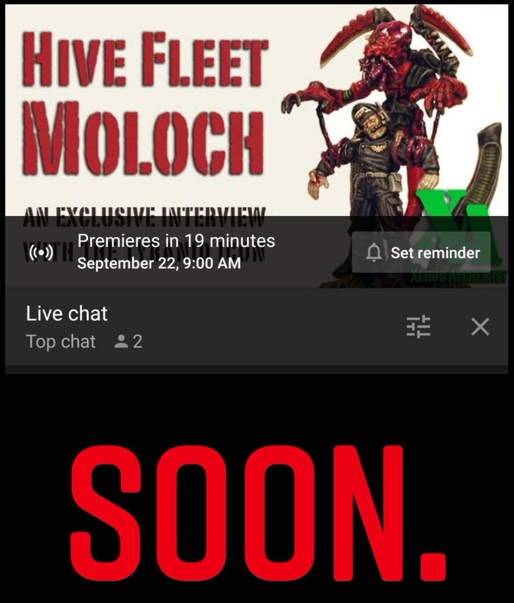 The Hive Fleet Moloch interview goes live in 20 mins.  https://t.co/ytO9Nxkumx #Tyranids #paintingwarhammer #warmongers https://t.co/2oPUhzN3iZ