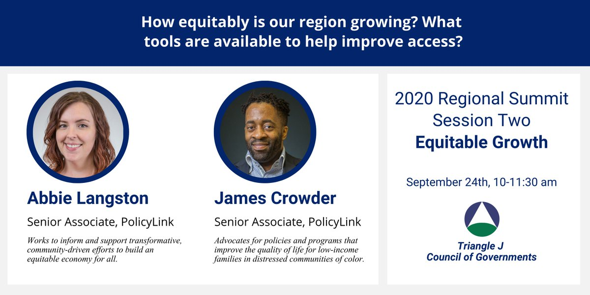 Block off your Thursday morning to join us & @policylink for Session Two of the Regional Summit!! https://t.co/FtQAawlNpI #equitablegrowth #localgov https://t.co/uVujfne9VW