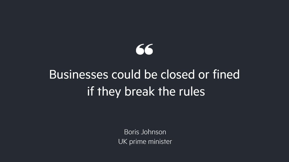 Boris Johnson has said that the new coronavirus restrictions he has just outlined to the House of Commons may last for six months https://t.co/E2zdBdfYja https://t.co/sHJIxwJRVF