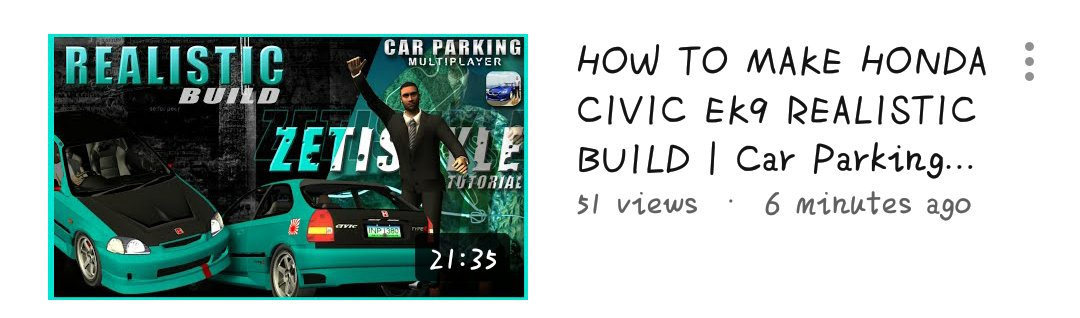 Car Parking Multiplayer 📌 | zeti • realistic build • #CarParkingMultiplayer #CPM #Gaming #Gameplay #Game #Openhood #Livery #Widebody #LibertyWalk #Tutorial #RustyDecals #YouTuber #YoutubeGaming #zeti #HondaCivicEk9 https://t.co/gTfU0agcB8