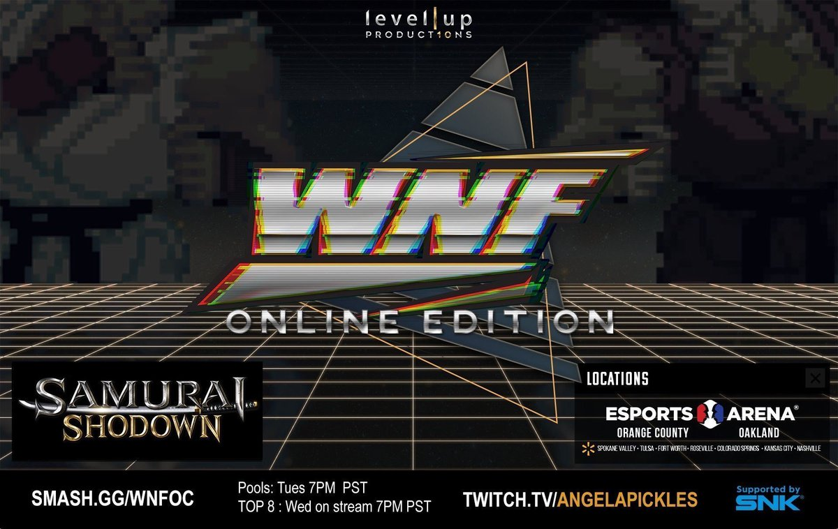 Announcement: We are supporting this online tournament series via our e-sports support program! #SNK #SAMURAISHODOWN #WNF  https://t.co/VJobuMMD74 https://t.co/53yWwJhYmw
