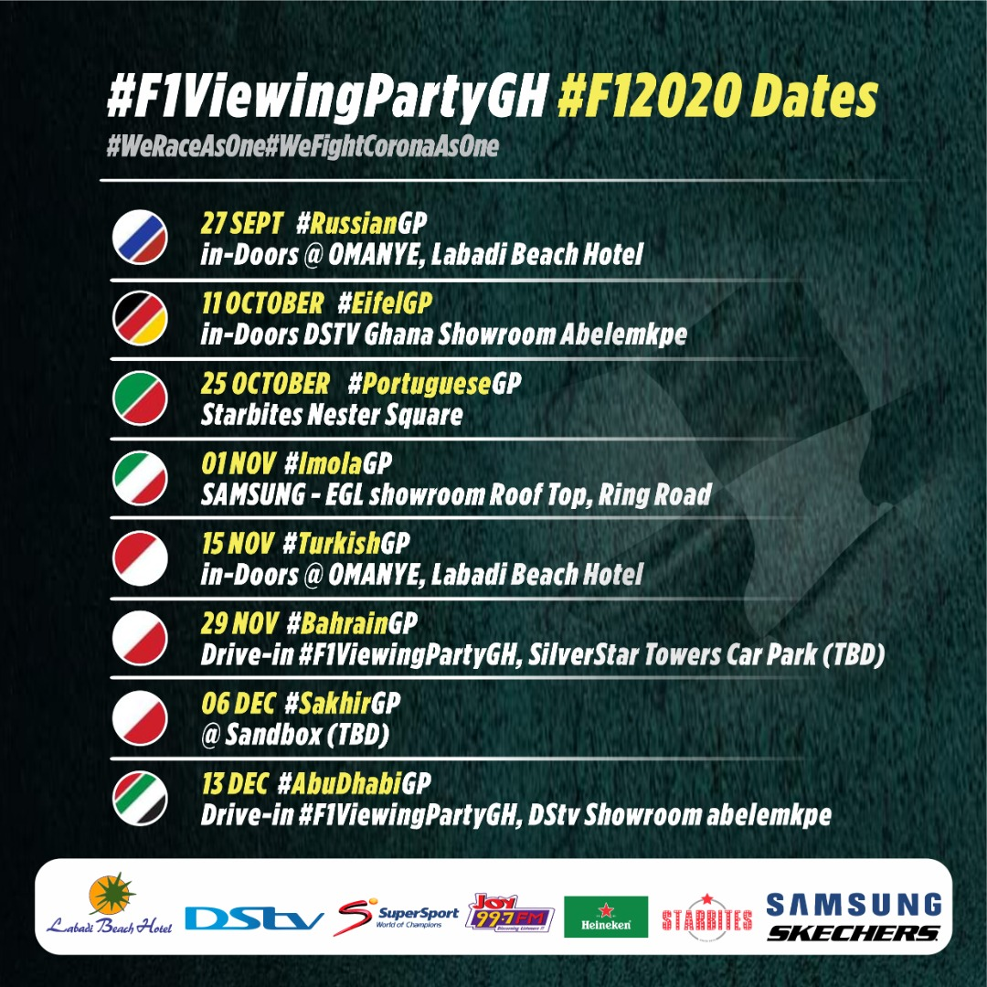 Nine down. Eight to go. 💪 Which race are you most excited about in the second half of the season... #F1ViewingPartyGH FORMULA 1 VIEWING PARTY GHANA #F1CLUB #F12020 💭👇 https://t.co/y30vKAcBhC