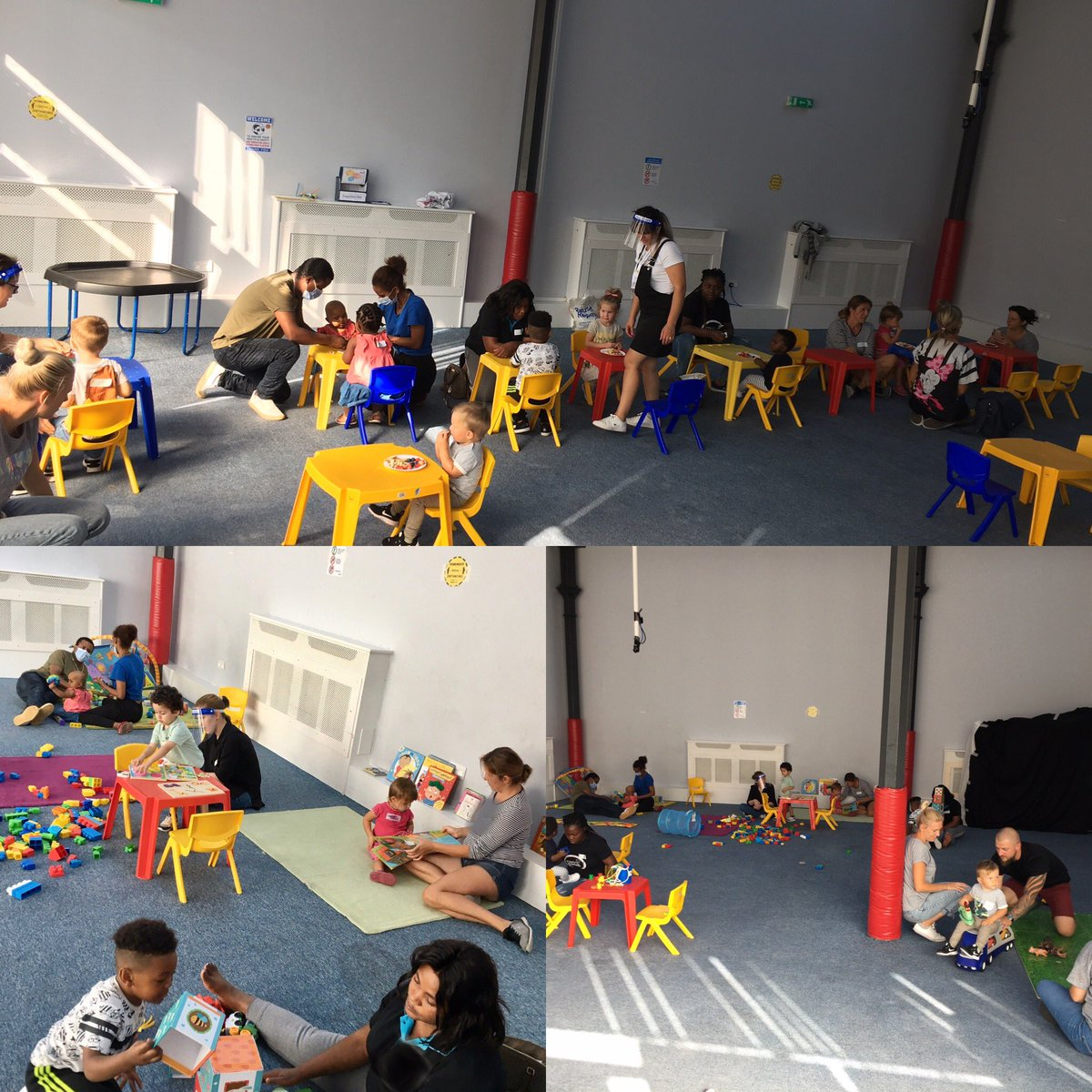 So excited to have ran our tots stay and play session today, first one since lockdown. We are getting used to a new venue and new measures. A smooth, safe and fun session was had by all. Thank you to our volunteers! 😊🌈🐻🦋 @TNLComFund #stayandplay #under5s #enactcommunity https://t.co/MNhwZVKQxm