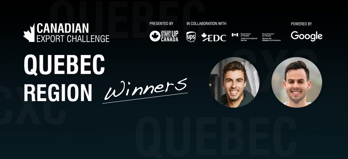 Congratulations to the #CXC2020 Quebec Region Winners!   Startup Category: Guillaume Charron DeLeave   Scale-Up Category: Mark Kumhyr @LFAntMedical    Read our recap here: https://t.co/ik3weYGSkQ  Want to watch the CXC Grand Finale? Sign up for FREE: https://t.co/BxmqQ8fn8U https://t.co/1tN15V1G41