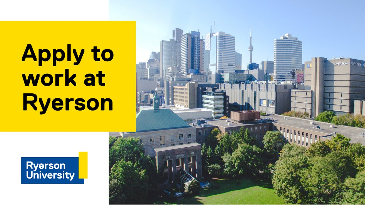 Ryerson's Faculty of Science is hiring a Student Skill Facilitator, Computer Science. Apply today! https://t.co/VNL68S1N5R #womenintech #diversityinscience, #womeninscience, #blackwomeninscience #indigenouswomeninscience #STEMwomen #womeninSTEM #diversityinSTEM https://t.co/JHxQV27109