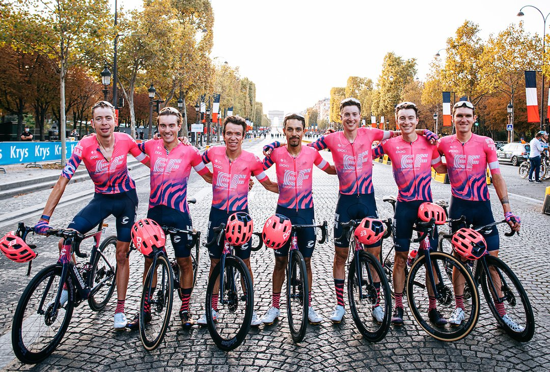You know stages come in sixes  And only four have won five.  After 3 weeks of all-out strain over @letour's 21 stages, @efprocycling finishes in 4th place out of 22 teams 🏆  Check out a full breakdown of the teams WHOOP data: https://t.co/5bmYvmzHKN #KnowYourself https://t.co/sh9euFZJjP