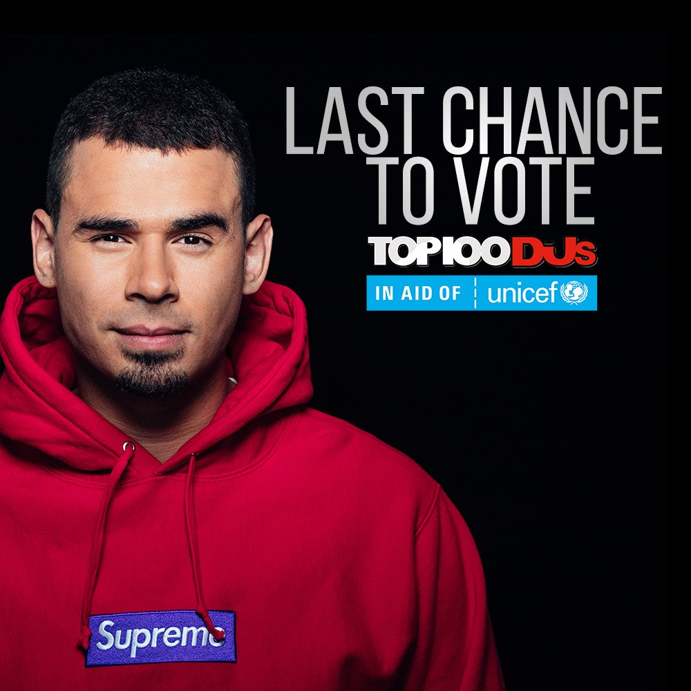 It's your last chance to vote for the @DJmag Top 100 ➡️ https://t.co/olrRau7aj1 ❤️ https://t.co/qZJDP3kqxU