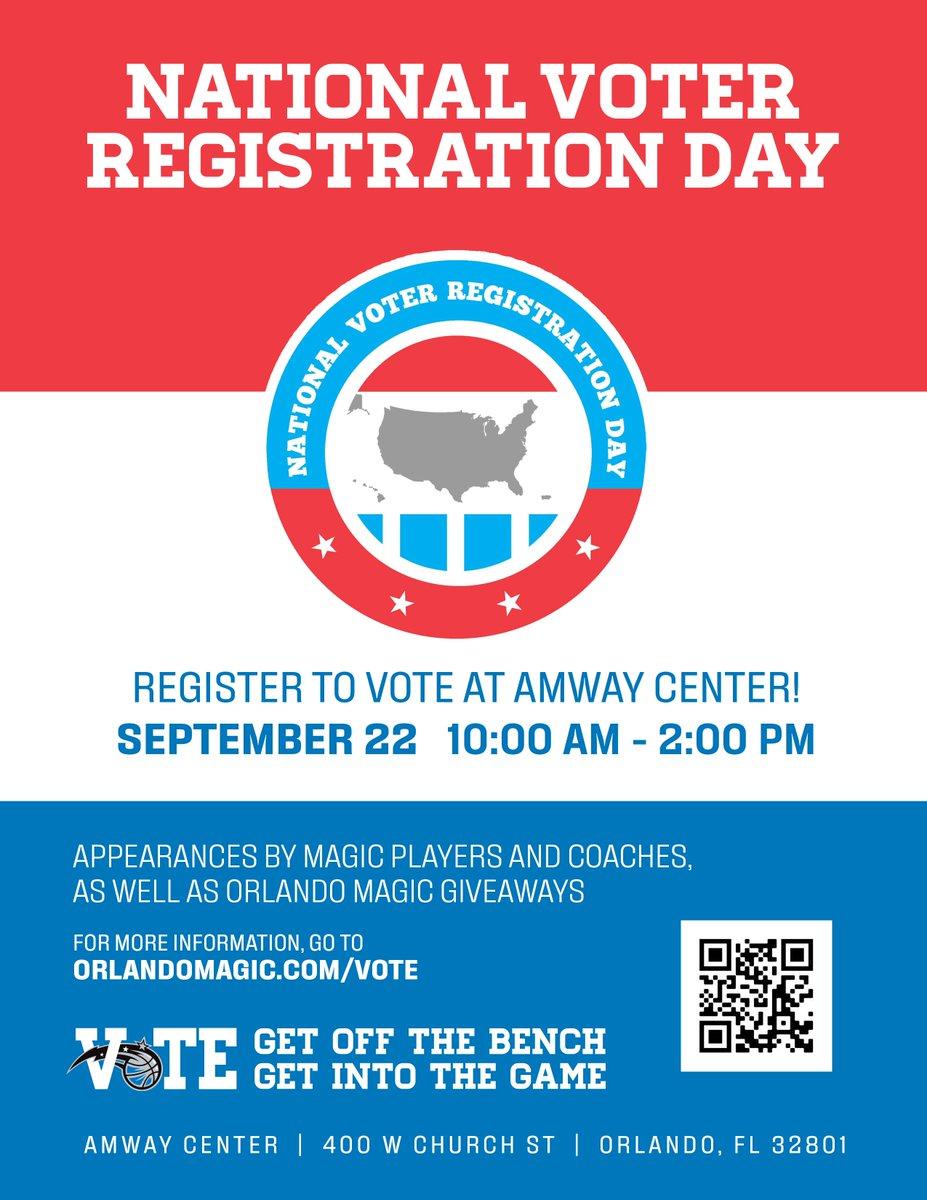 #NationalVoterRegistrationDay #VoteReady #Vote #NBATogether https://t.co/mCbCLhfWSp