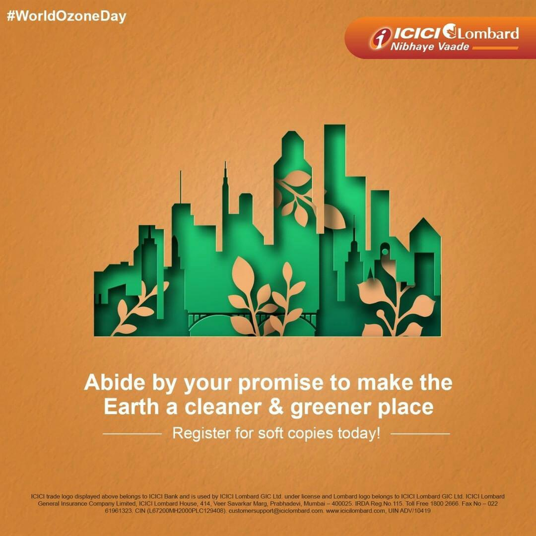 #RestartRight by protecting our trees and in turn, our ozone layer this #WorldOzoneDay. Register for your policy soft copies today with #ICICILombard to save paper and the environment. #NibhayeVaade https://t.co/6ZBhghxS8x
