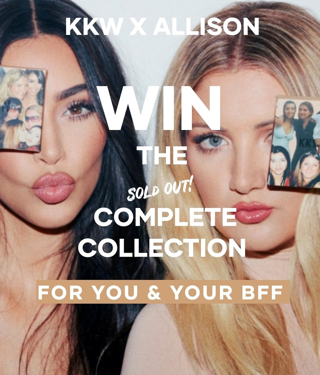 Image for WIN THE (SOLD OUT) KKW X ALLISON COMPLETE COLLECTION FOR YOU & YOUR BFF ✨   Go to our instagram page! https://t.co/VZpTPghV40