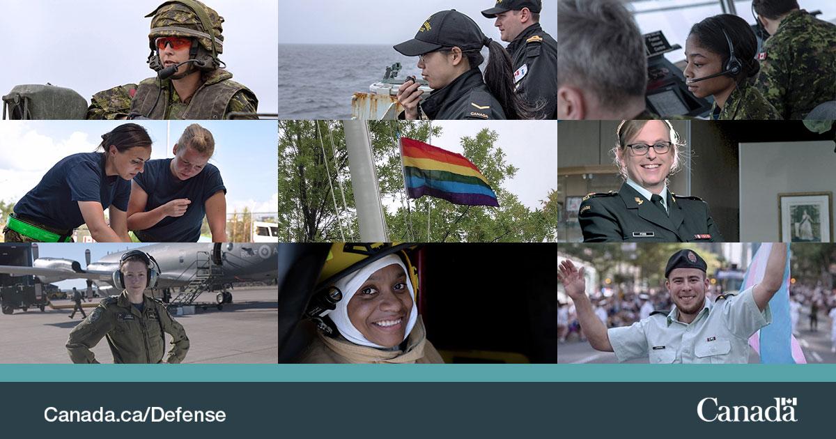 Pour la #SemaineDeLegaliteDesSexes, nous célébrons des réalisations incroyables que les femmes et les communautés de genre mixtes ont faites au Canada et au sein des #FAC.   #GrâceàVous, nous demeurons engagés envers les progrès visant l'égalité des sexes. https://t.co/oeGOCBCaoe https://t.co/hNdVZyBVgR