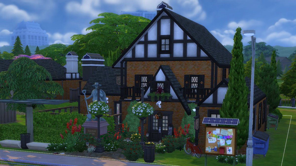 The Oopsie Daisies. A proper British themed pub with children's play area and plenty of space to go and hang out.  • origin ID: rhxann • Now available on the gallery.  #TheSims4   #ShowUsYourBuilds  #StayandPlay #SimsCreatorCommunity https://t.co/2zMnvnd6ZT