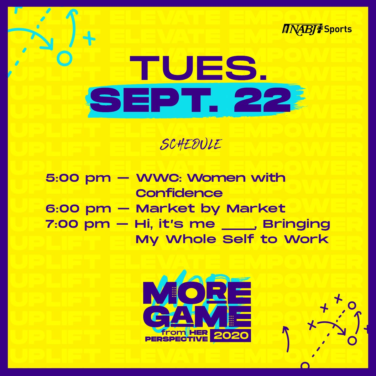 Good morning!!!! We are keeping the  celebration of women going TONIGHT for our #MorethanagameforHER conference!!! 🔥😎  Going UP on a Tuesday!!! You are still able to register for today's panels until 3pm EST! Click the link 👇🏾👇🏾  https://t.co/l2nMIUDmJS https://t.co/cqaNEwM96Q