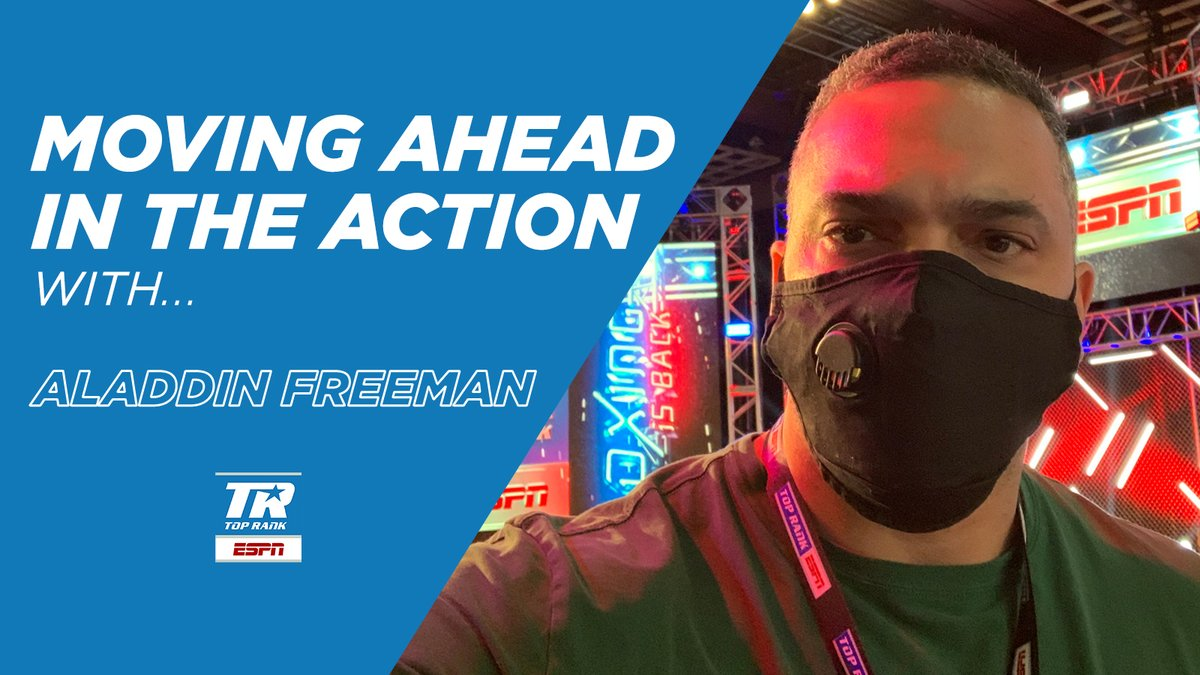 As more live sports return to ESPN platforms, meet some of the people working to deliver these events to fans  Up next, ESPN event director Aladdin Freeman, looks forward to Round 3 of @trboxing in October from inside the bubble @MGMGrand in Las Vegas  https://t.co/OVEsR8WPkw https://t.co/ZCpv8mPPwB