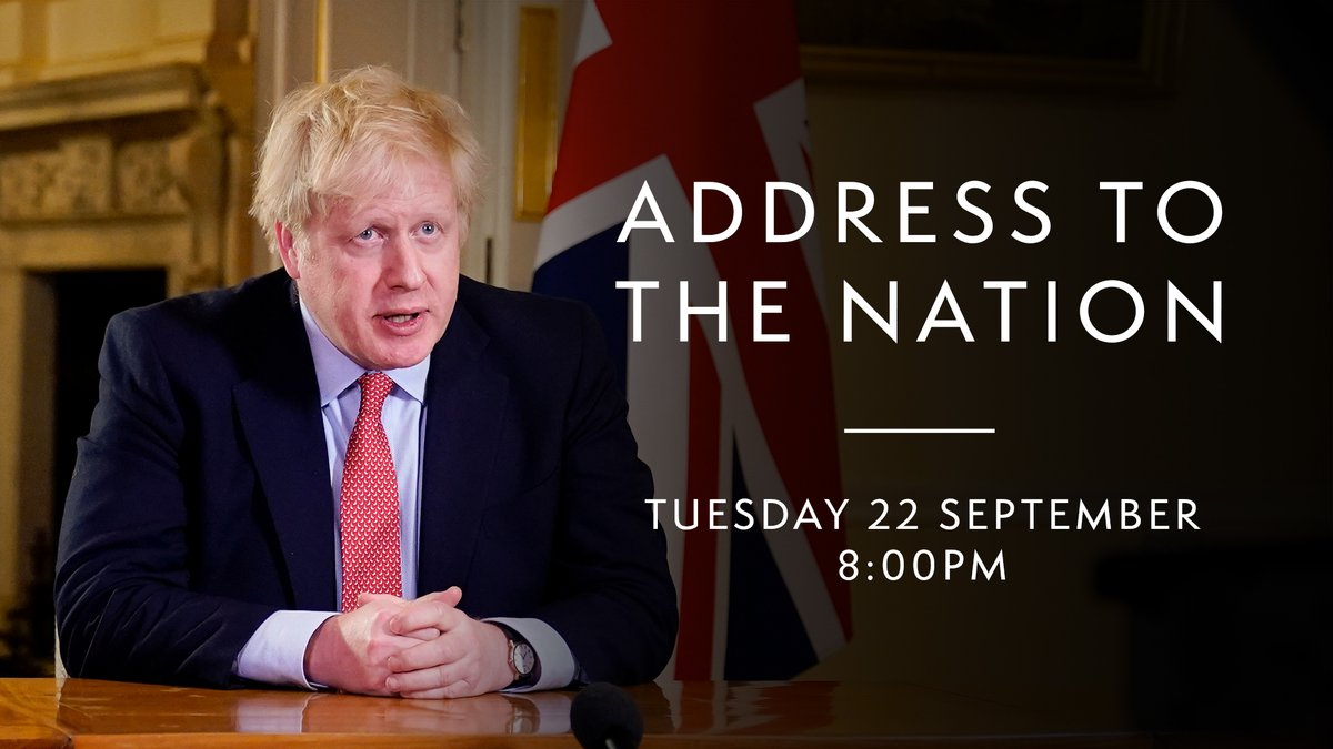 The Prime Minister will address the nation at 8.00pm. https://t.co/TwFYX9sUwP