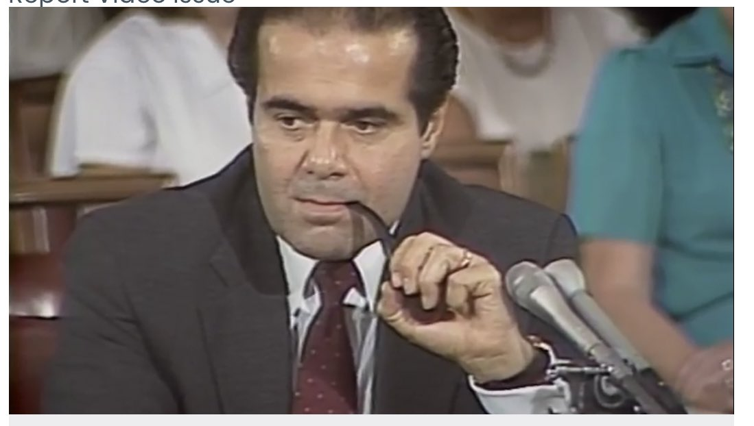 Just a clip of Scalia smoking a pipe during his Senate confirmation hearing. https://t.co/U5xpW9nryN https://t.co/qZl8ZCP5M5
