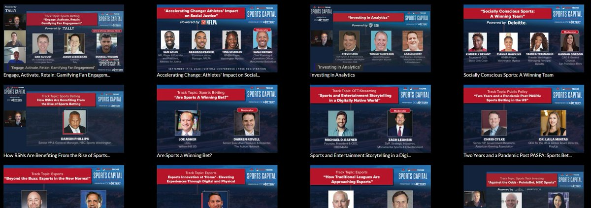 If you missed any sessions from the Sports Capital Symposium and would like to view them on-demand, we now have them posted on @MonSportsNet here: https://t.co/yp431FRRAs  Happy viewing! #SCS2020 #SportsCapital   @MSE @SportTechie https://t.co/25t6w3O87M