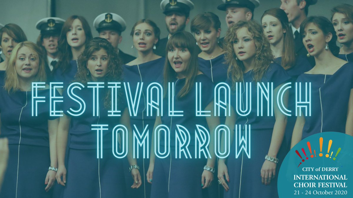 Exciting announcement!! We will be sharing the full programme of events at 1pm tomorrow on our website and social media.  Make sure to check it out and get the dates in your diary. #ChoirFestival #Derry #LoveChoral https://t.co/EAZEOOUMVN