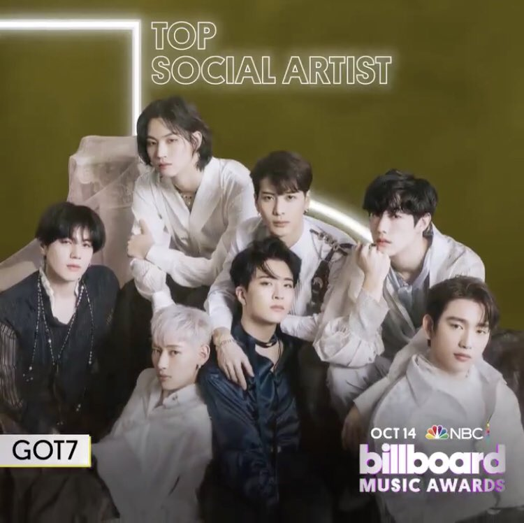 Congratulations to @GOT7Official for their nomination Top Social Artist at the 2020 @BBMAs!  This is their second year nominated in the category at the #BBMAs   @marktuan  @GOTYJ_Ars_Vita  @JacksonWang852  @BamBam1A  @real_Kimyugyeom https://t.co/AXyWPd91TN