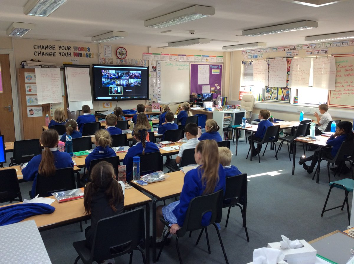 A lovely Collective Worship led by Reverend Garry this morning over Zoom. #workingtogether #schoolfamily https://t.co/BbFMUCJszk