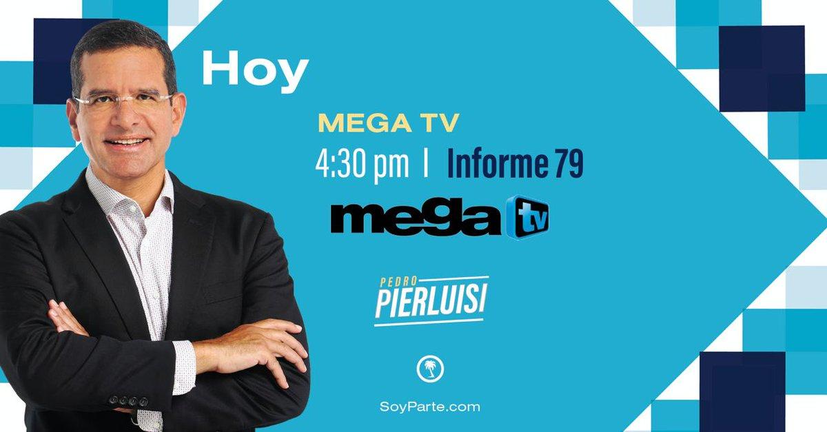 ¡Buenos días! Hoy estaré conversando sobre mi compromiso contigo y con Puerto Rico por @MegaTVLive ¡Sintoniza! https://t.co/8l09vTJL9L