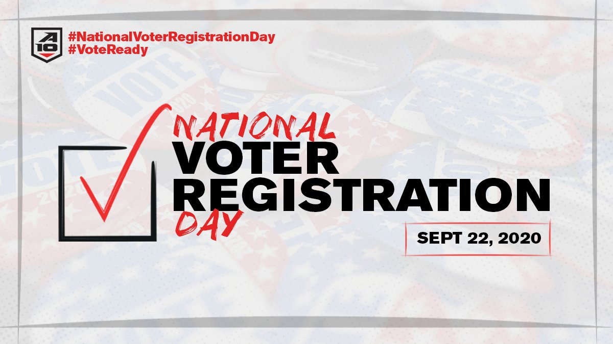 Did you know it's #NationalVoterRegistrationDay ?  Check Your Status ✓: https://t.co/tNS4Ds4ztk  Register To Vote ✓: https://t.co/7CVVWbfvW2  #VoteReady https://t.co/4MFCeLH8yL
