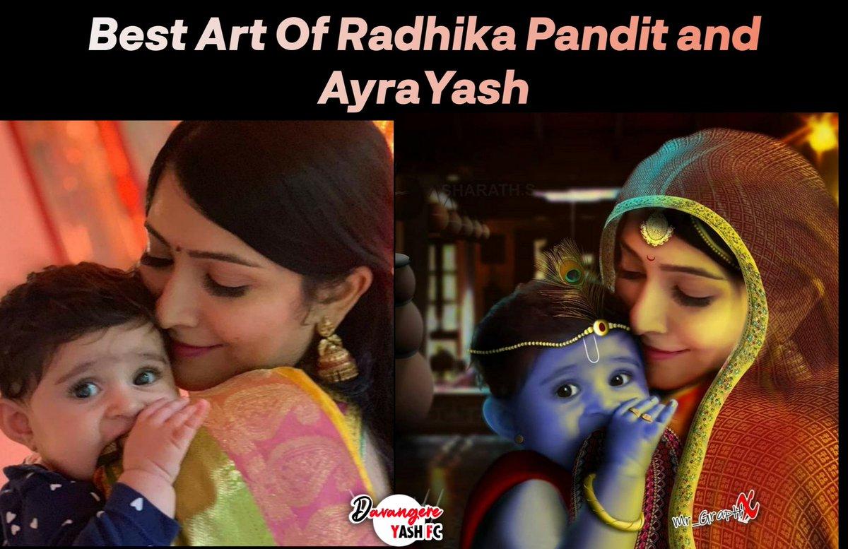 Best Art Of #RadhikaPandit  & #Ayra  😍❤️ @TheNameIsYash @RadhikaPandit7  #Yash #YashBoss  #NimmaRP #Yatharv  #YatharvYash  #DavangereYashFC https://t.co/zz39gpStJi