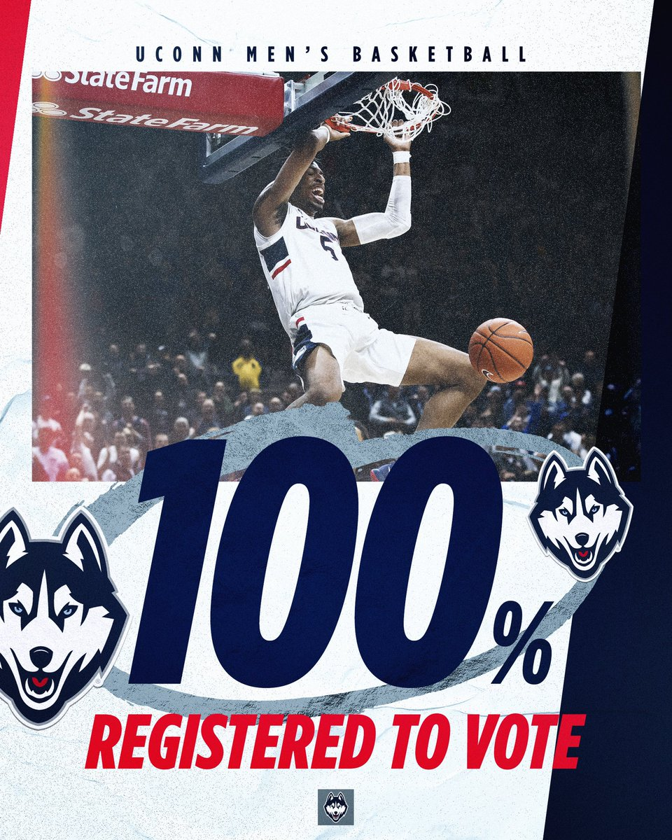 It's #NationalVoterRegistrationDay 🗳 Our program is 𝟏𝟎𝟎% registered to vote. Are you⁉️⁣ #ThisIsUConn