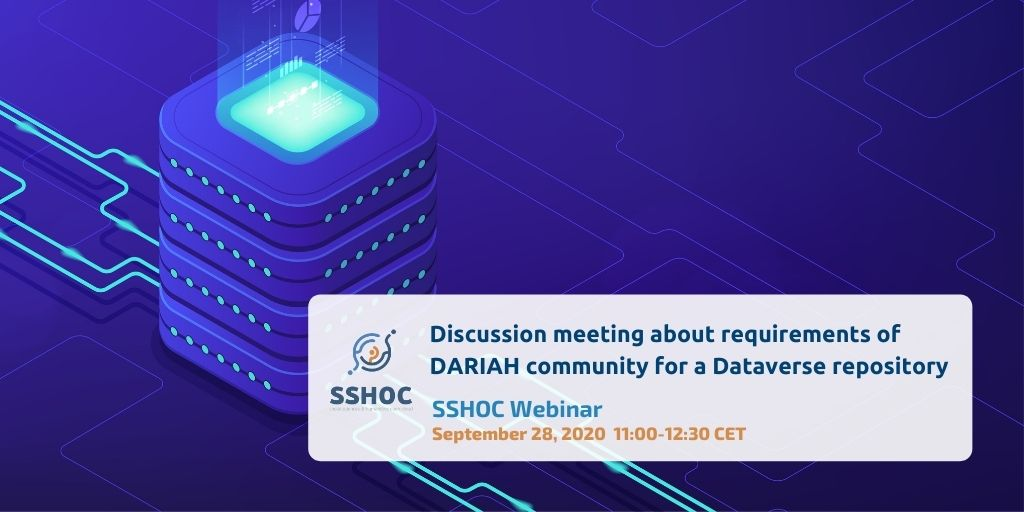 We're building a community driven #SSH #data #repository #service on the Dataverse software. Join the webinar to table your requirements!  @dataverseorg  #ERICs #ResearchInfrastructures #openscience  Register https://t.co/dPsjWYyzSU https://t.co/FKSjw71o4t