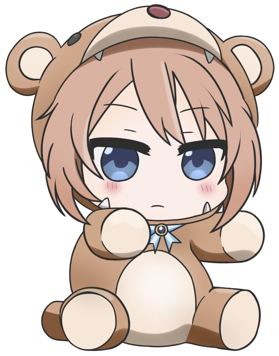 Kanna Kamui in a bear suit, but instead it's Blanc.  Smol and angry.  #neptunia https://t.co/TwAfv9lEM1