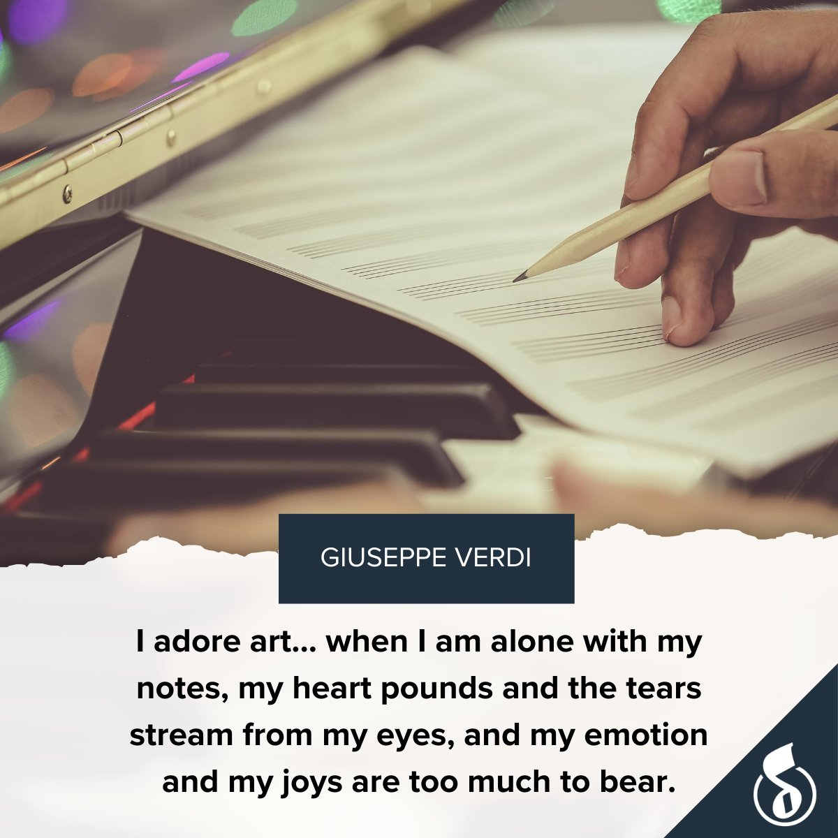 Today's musical quote comes from composer Giuseppe Verdi! 🎶 https://t.co/szXW1fGY8A