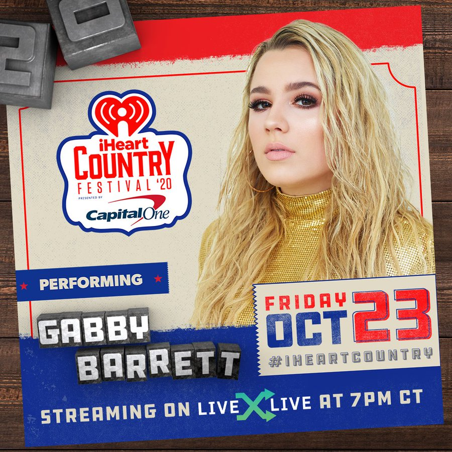 💓 @GabbyBarrett_ 💓  Y'all how excited are you to see Gabby Barrett take the 2020 #iHeartCountry Festival stage?! https://t.co/wbu4cyZR3i