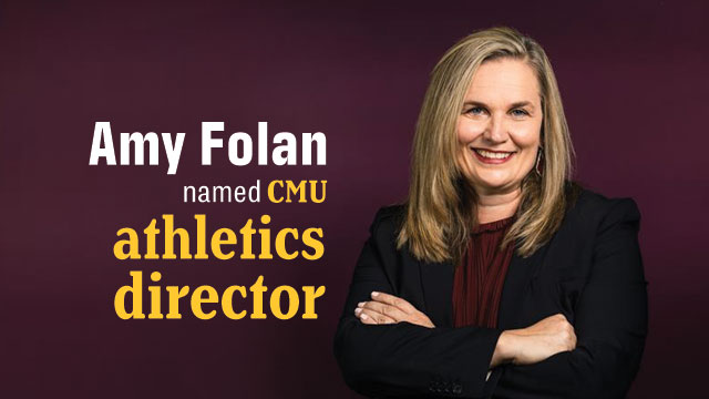 CMU President Bob Davies announces the hire of Amy Folan as the university's next Zyzelewski Family AVP/Director of Athletics. Folan brings to CMU extensive experience in collegiate athletics, with special focus on fundraising and compliance.  https://t.co/tNRDAOS7Zp https://t.co/1Nj6YkJEYr