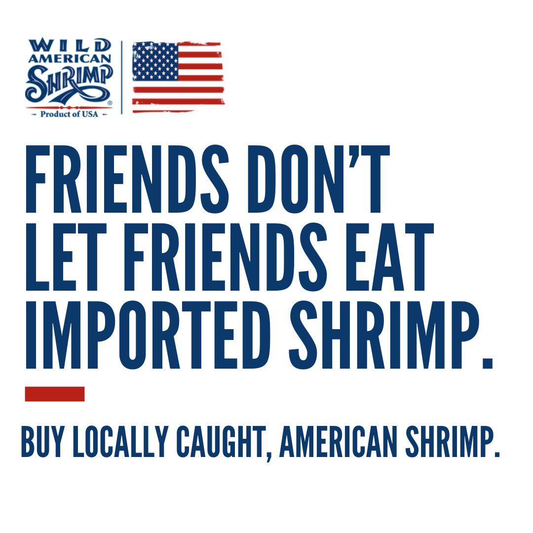 Whether you're buying shrimp from your local grocery store or getting them delivered from your favorite restaurant, be sure to always get wild-caught, American shrimp!  Learn more about our delicious Wild American Shrimp at https://t.co/lXQKcR5SXI! #shrimp #buylocal #wildcaught https://t.co/WMfzGAWG19