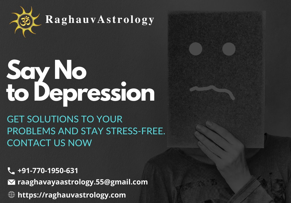 Fight Depression with the help of Vedic Astrology. Get solution now for a stress-free life ahead. Contact us now. #astrology #jyotish #depression #depressionsupport #depressionhelp #depressiontreatment #depressionrelief #depressionawareness #depressionisreal #depressionrecovery https://t.co/PuzP5vFs0T