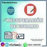 Image for the Tweet beginning: 📍 Recuperación de Usuario saime