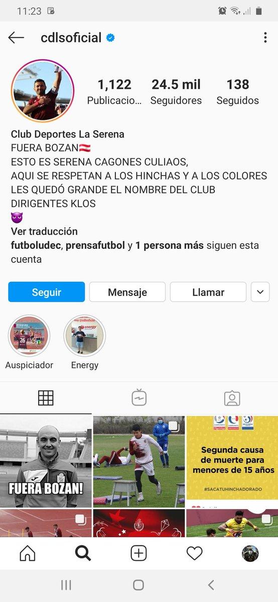 Hackearon el Instagram de Deportes La Serena... https://t.co/S0AhTvnt5G