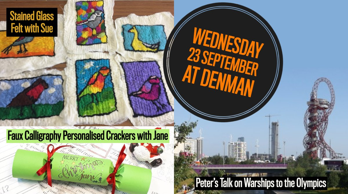 Tomorrow at #DenmanatHome we have two #craft courses and one #history lesson for you to enjoy! denman.org.uk/whats-on/?_sea…