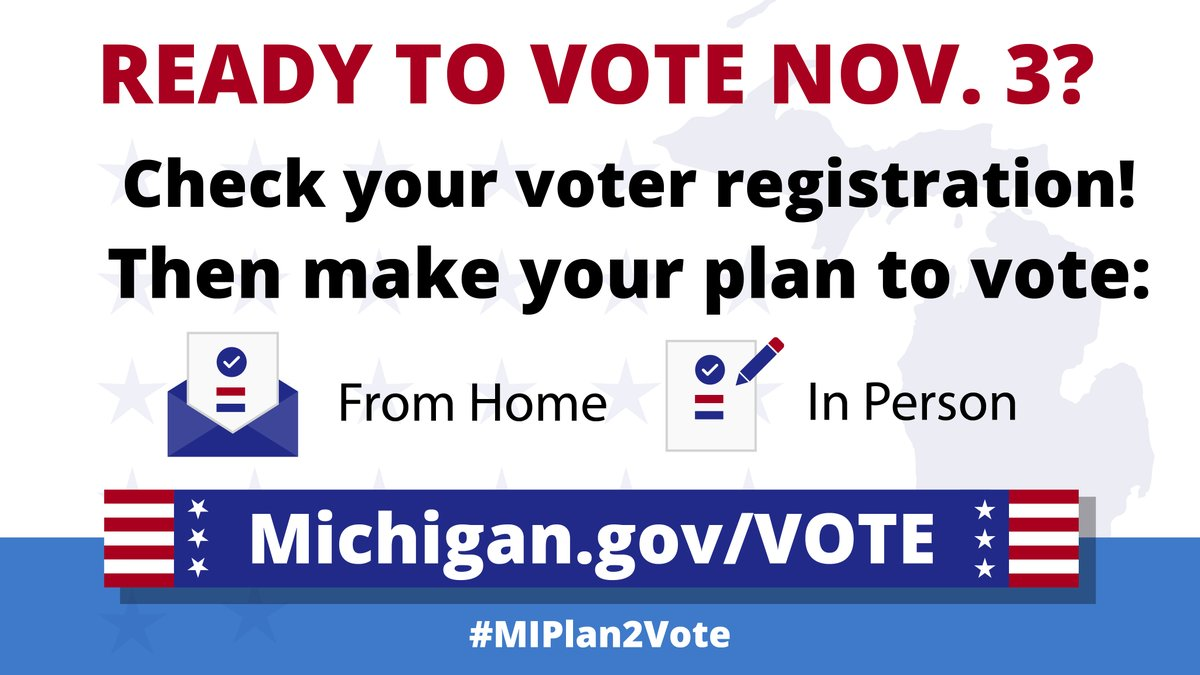 Today is #NationalVoterRegistrationDay! We encourage our great fans to make a plan to vote. You can safely do so in whatever way you prefer and be confident that your vote will be counted: https://t.co/5wFWrW1DqH   #DetroitRoots   #MIPlan2Vote https://t.co/wXiZ8rjQ0D