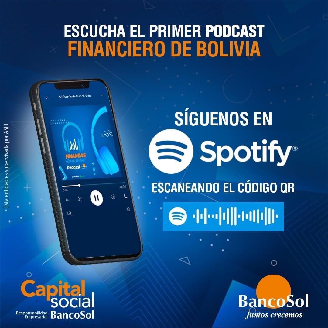 ¡Síguenos en Spotify y aprende más con el primer podcast financiero de Bolivia! Capítulos nuevos cada semana.  Te dejamos el link para que no te pierdas ninguno: https://t.co/bgKRJr2h2P #BancoSol #VamosAEstarBien #CapitalSocial https://t.co/iYrrDOyddT