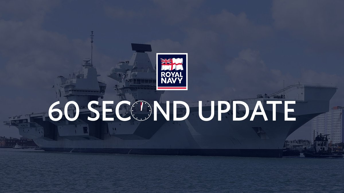 🎥 This week's headlines include @HMSQNLZ heading on #NATO work with two F35 jet squadrons embarked, @hms_albion leading an important deployment to the Med, @hms_tamar in London, and @hms_argylls return after six months in the Gulf. 🔗 Read more: royalnavy.mod.uk/60secondupdate